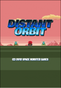 Distant Orbit title screen