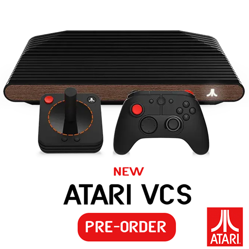 Photo of Atari VCS console and pre-order information