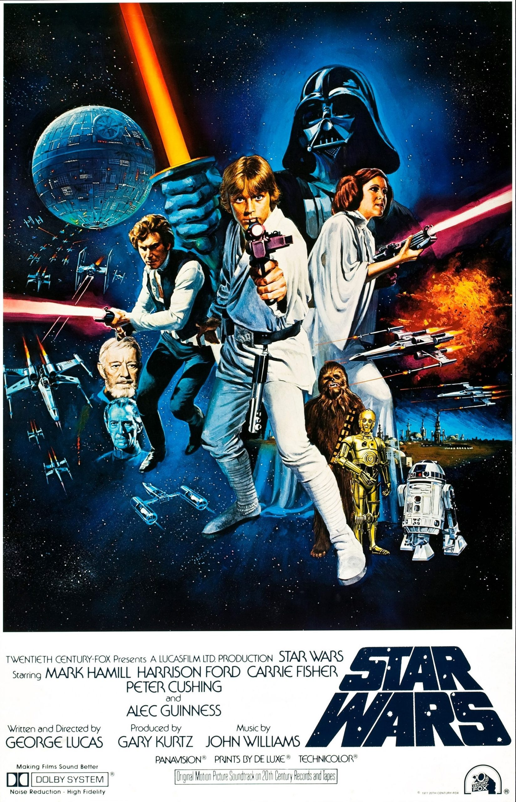 Star Wars movie poster art